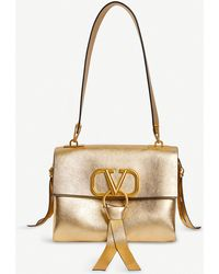 fcfdc567a2f Valentino - Exclusive Grained Leather Shoulder Bag - Lyst