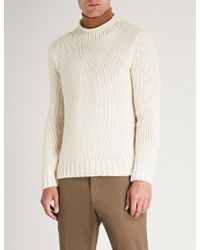 Ralph Lauren Purple Label - Knitted Cashmere Jumper - Lyst
