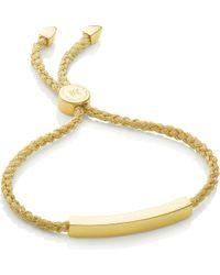Monica Vinader - Linear 18ct Gold-plated Woven Friendship Bracelet - Lyst