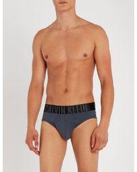 Calvin Klein - Intense Power Slim-fit Stretch-cotton Briefs - Lyst