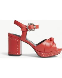 The Kooples - Studded Leather Sandals - Lyst