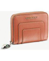 BVLGARI - Serpenti Forever Zipped Leather Wallet - Lyst