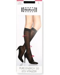 Wolford - Pure Energy 30 Leg Vitalizer Knee-high Socks - Lyst