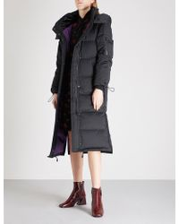 Mo&co. - Quilted Down-blend Coat - Lyst