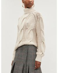 Kitri - Belle Cable-knit Wool-blend Jumper - Lyst
