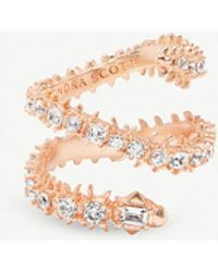Kendra Scott - Beck 14ct Rose Gold-plated Brass And Crystal Ring - Lyst