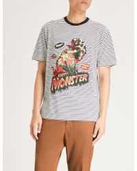 The Kooples - Happy Monster Cotton-jersey T-shirt - Lyst