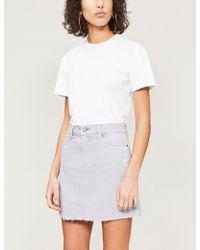 PAIGE - Aideen Denim Mini Skirt - Lyst