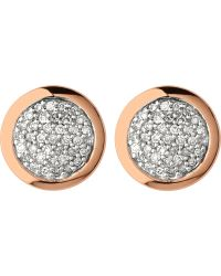 Links of London | Diamond Essentials Rose Gold Vermeil And Diamond Stud Earrings | Lyst