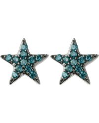 Links of London - Diamond Essentials Sterling Silver And Diamond Star Earrings - Lyst