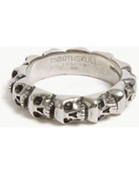 Northskull - Skull Ring Band - Lyst