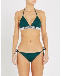 Calvin Klein - Intense Power Triangle Bikini Top - Lyst