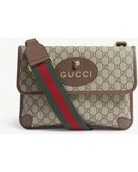64a410ceb59 Gucci Medium Dionysus GG Supreme Shoulder Bag in Natural - Lyst