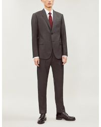 Emporio Armani - Modern-fit Wool And Silk-blend Suit - Lyst
