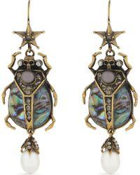 Alexander McQueen - Beetle Drop Earrings - Lyst