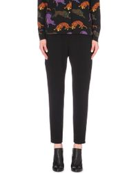 Stella McCartney - Cropped Crepe Trousers - Lyst