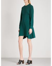 Theory - Laced-detail Crepe Dress - Lyst