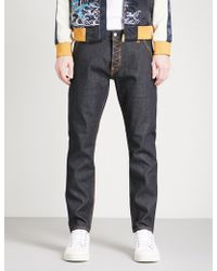 Evisu - Camouflage-print Regular-fit Straight-leg Jeans - Lyst
