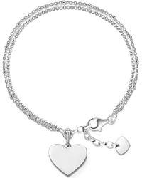 Thomas Sabo - Sterling Silver Love Bridge Engravable Bracelet - Lyst