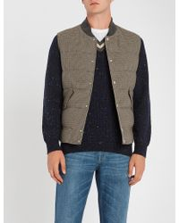 Brunello Cucinelli - Houndstooth Wool And Cashmere-blend Gilet - Lyst