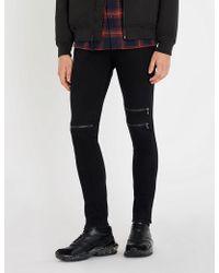 J Brand - Mick Zip-embellished Skinny-fit Skinny Jeans - Lyst