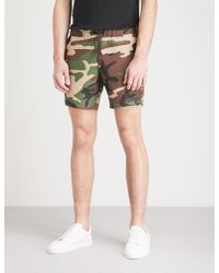 Sandro - Camouflage-print Relaxed-fit Swim Shorts - Lyst