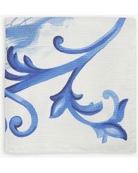 Eton of Sweden - Ship Print Silk Pocket Square - Lyst