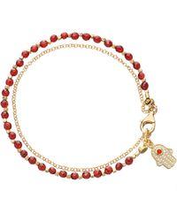 Astley Clarke - Hamsa Red Agate Friendship Bracelet - Lyst