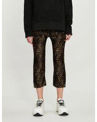 The Kooples - Leopard-print High-rise Velvet jogging Bottoms - Lyst
