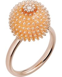 Cartier - Cactus De 18ct Pink-gold And Diamond Ring - Lyst