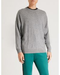 The Kooples - Embroidered Wool And Cashmere-blend Jumper - Lyst