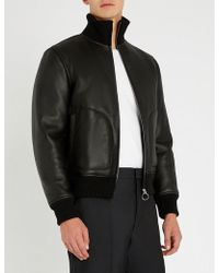 Sandro - Odeon Funnel-neck Leather Jacket - Lyst