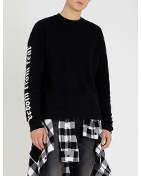 The Kooples - Freedom-print Crewneck Cotton-jersey T-shirt - Lyst