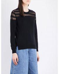 5cm - Sheer-detail Cotton-blend Jumper - Lyst