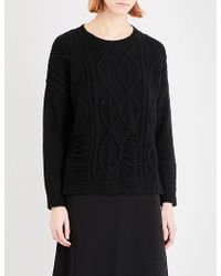 5cm - Cable-knit Wool-blend Jumper - Lyst
