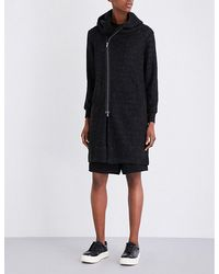 5cm - Hooded Knitted Cardigan - Lyst