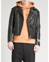 Trapstar - Death Metal Leather Jacket - Lyst