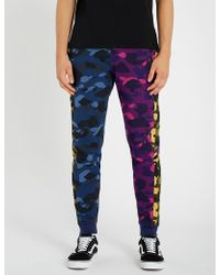 A Bathing Ape - Camouflage Crazy Cotton-jersey Jogging Bottoms - Lyst