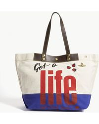 Vivienne Westwood - Get A Life Cotton Canvas Shopper Bag - Lyst
