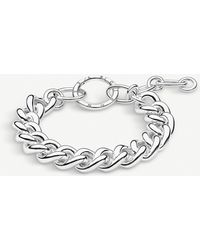 Thomas Sabo - Circle Sterling Silver Chunky Curb Chain Bracelet - Lyst