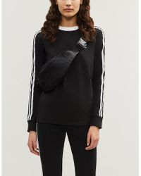73020a601558 adidas Originals - 3-stripes Embroidered-logo Cotton-jersey Top - Lyst