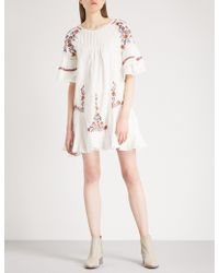 Free People - Pavlo Embroidered Cotton Dress - Lyst