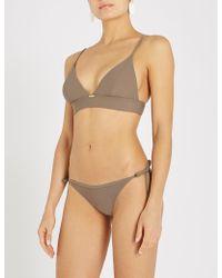 Calvin Klein - Longline Triangle Bikini Top - Lyst