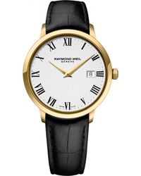 Raymond Weil - 5488-pc-00300 Toccata Stainless Steel Yellow Gold Pvd And Leather Watch - Lyst