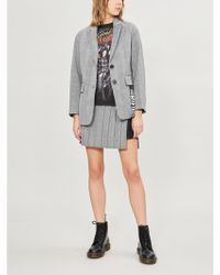 5cm - Houndstooth Checked Woven Jacket - Lyst