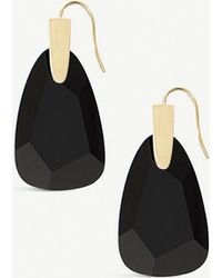 Kendra Scott Marty 14ct Gold-plated And Black Glass Earrings