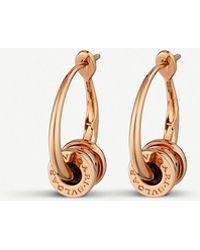 BVLGARI - B.zero1 18ct Rose-gold Hoop Earrings - Lyst