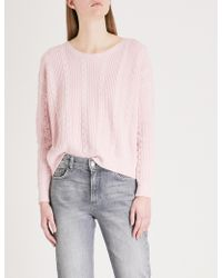 Claudie Pierlot - Open-back Wool And Cotton-blend Jumper - Lyst