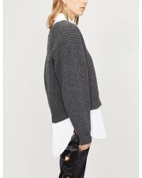 Acne Studios - Oversized Ribbed Wool Jumper - Lyst