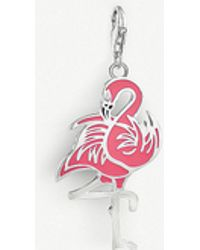Thomas Sabo - Charm Club Enamelled Sterling Silver Flamingo Charm - Lyst